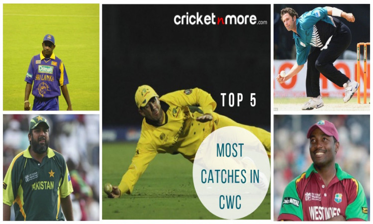 Cricketers with most catches in World Cup