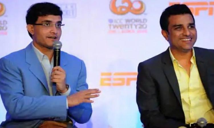 Sourav Ganguly and Sanjay Manjreka