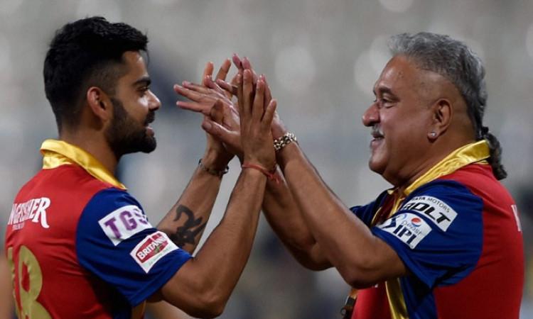 Virat Kohli and Vijay Mallya