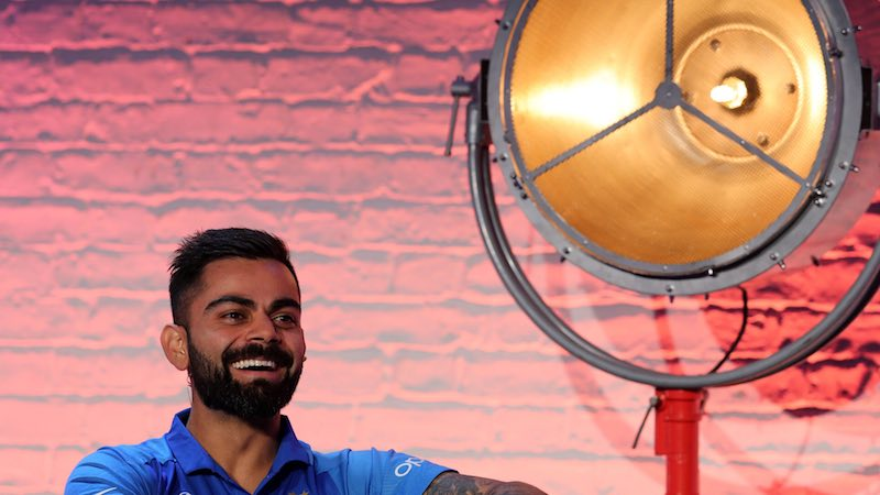 Virat Kohli At CWC19 Captains Meet Images