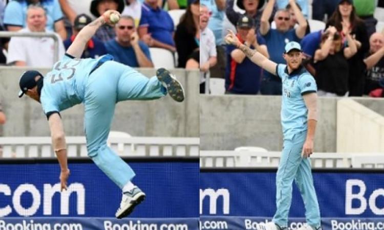 VIDEO बेन स्टोक्स ने वर्ल्ड कप के ओपनर मैच में लपका हैरतअंगेज कैच Images