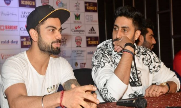 virat kohli and Abhishek Bachchan