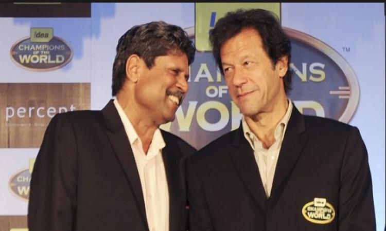 Kapil Dev and Imran Khan