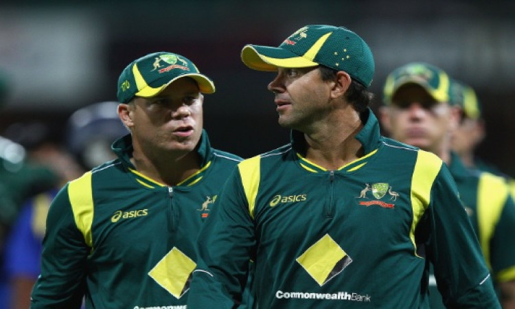 Ponting with Warner