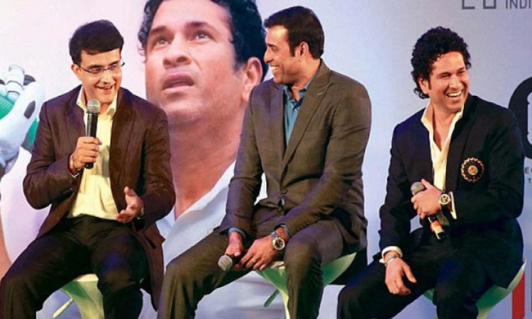 Sachin Tendulkar, Sourav Ganguly and V.V.S. Laxman