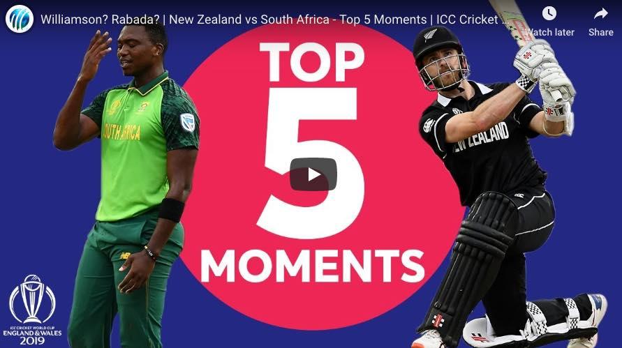 NZ v SA Match moments