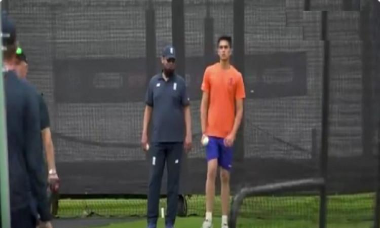 अर्जुन तेंदुलकर इंग्लैंड के अभ्यास सत्र में कर रहे हैं गेंदबाजी, इंग्लिश बल्लेबाजों की उड़ रही है नी
