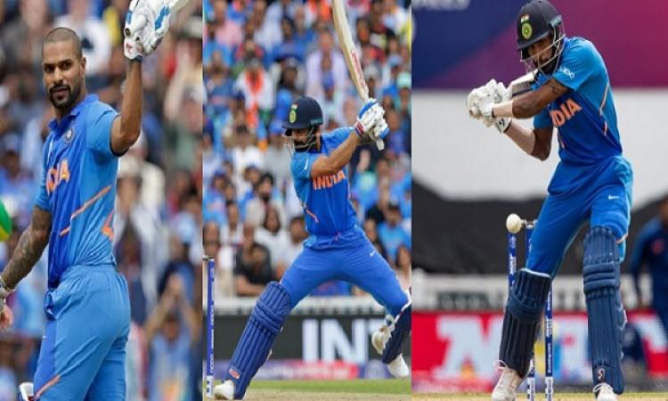 धवन, कोहली, पांड्या, रोहित और धोनी की पारी के दम पर भारत ने ऑस्ट्रेलिया को दिया 353 रनों का टारगेट