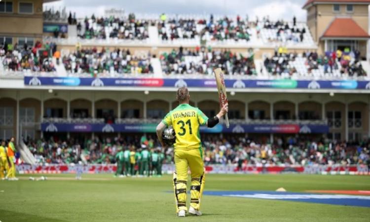 डेविड वॉर्नर का धमाकेदार शतक, ऑस्टेलिया ने बनाए 5 विकेट पर 368 रन Images