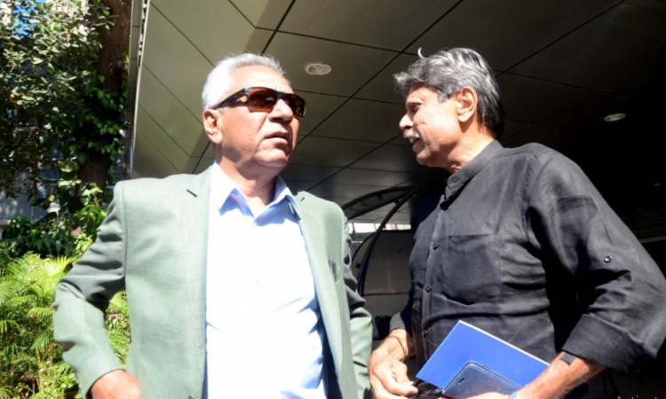 Anshuman Gaekwad and Kapil Dev