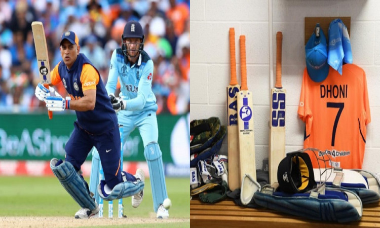 Dhoni using different bat logos as goodwill gesture Images