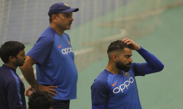 Head Coach Ravi Shastri and skipper Virat Kohli