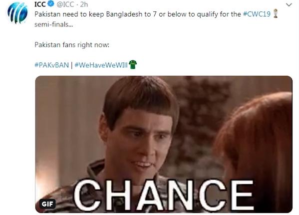 ICC Tweet