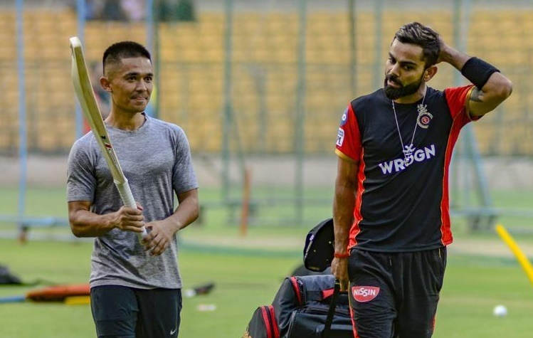 Sunil Chhetri and Virat Kohli