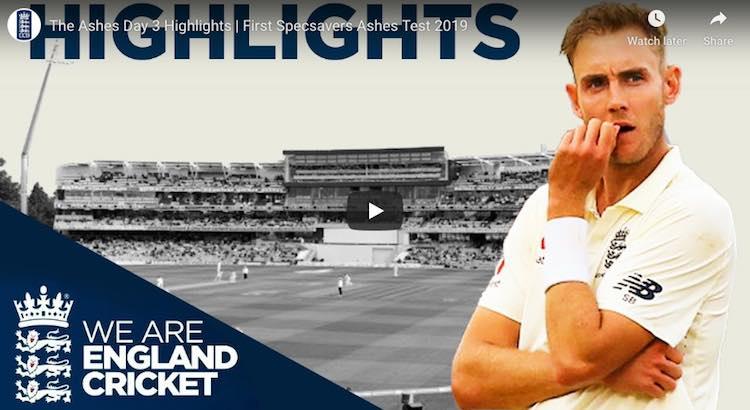 First Ashes Test Eng v Aus Highlights