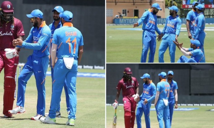 Kohli grooves to Caribbean tunes during washed out ODI Images