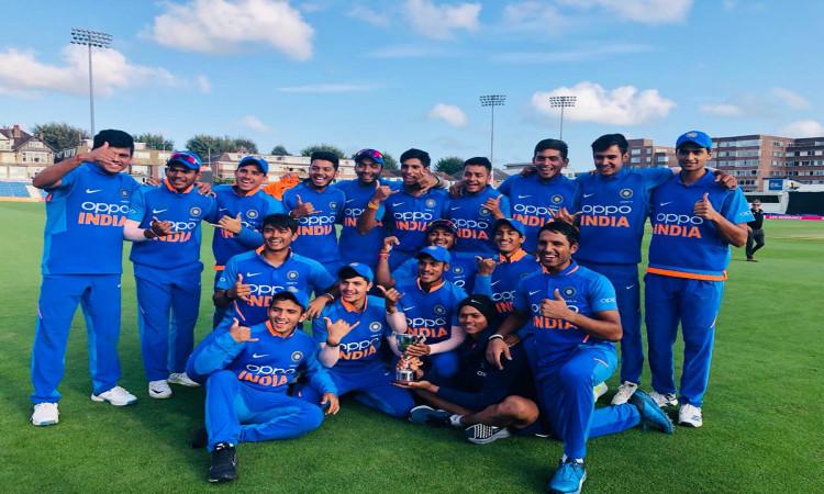 India U19 beat Bangladesh by 6 wkts, win tri-series Images