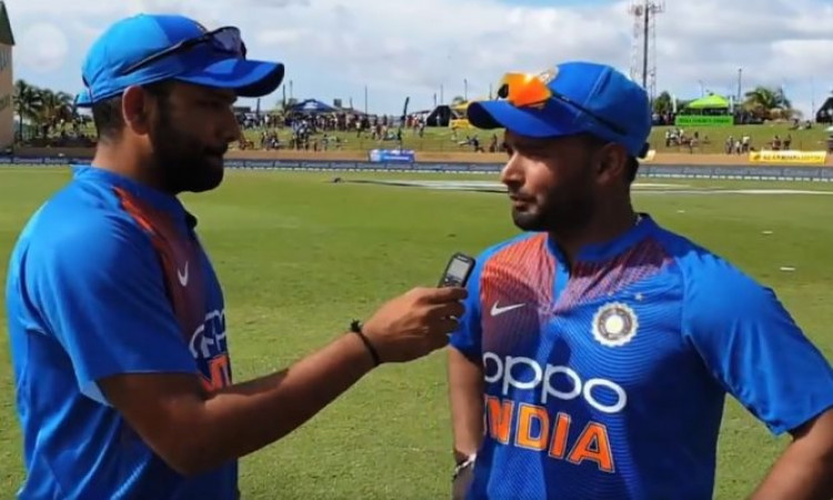 Rohit Sharma and Rishabh Pant