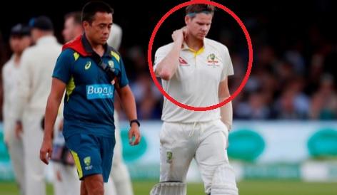 लॉर्ड्स टेस्ट के दौरान कान के नीचे गर्दन पर स्टीव स्मिय को लगी चोट,जानिए तीसरे टेस्ट में खेलेंगे या
