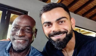 Virat Kohli and Viv Richards