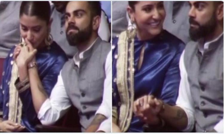 VIDEO डीडीसीए ने कोहली के नाम किया पवेलियन, अपने पति विराट का ऐसा सम्मान देख गदगद हुई अनुष्का  Image