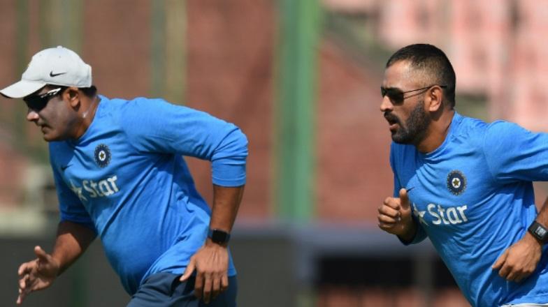Dhoni and Kumble