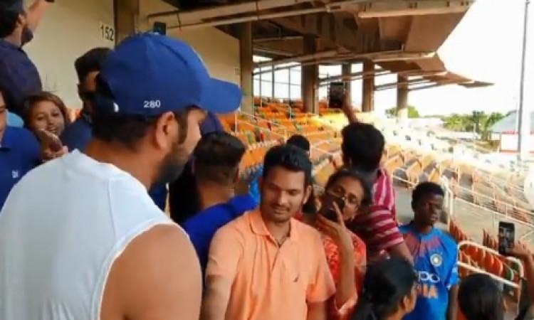 VIDEO रोहित शर्मा नहीं खेल पाए टेस्ट सीरीज, लेकिन अपने फैन्स के लिए किया ऐसा काम ! Images