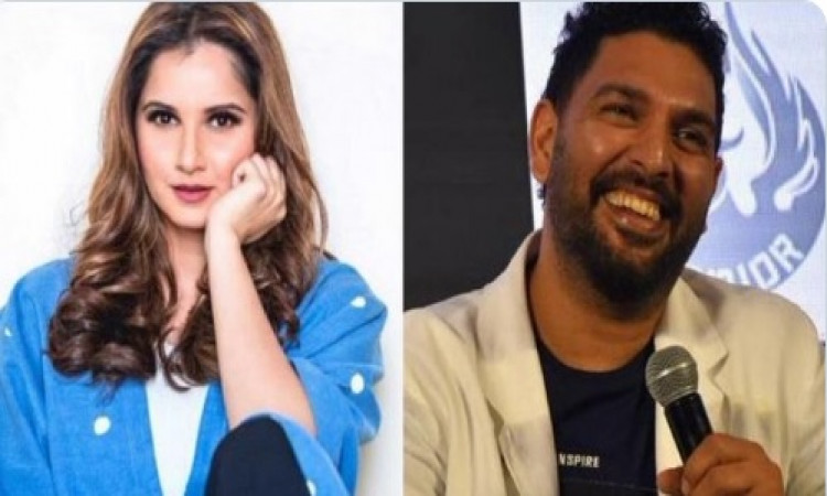 Yuvraj Singh's new look sees Sania Mirza pull his leg   Images