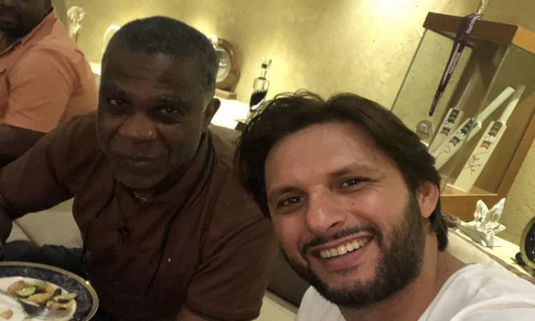 Shahid Afridi & Michael Holding