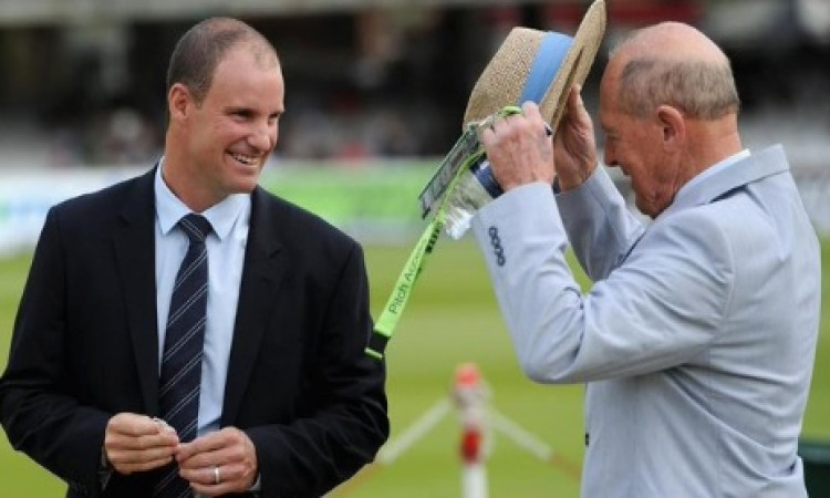 It's now Sir Geoffrey Boycott, Sir Andrew Strauss Images