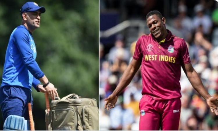 वेस्टइंडीज गेंदबाज शेल्डन कॉट्रेल ने धोनी के बारे में जो कहा,उसे जानकर आपका दिल गदगद हो जाएगा Images