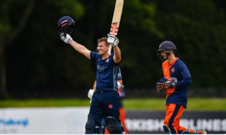 टी-20 क्रिकेट में ऐतिहासिक कारनामा, स्कॉटलैंड -नीदरलैंड मैच में बने कई रिकॉर्ड, इस बल्लेबाज का 41 गे