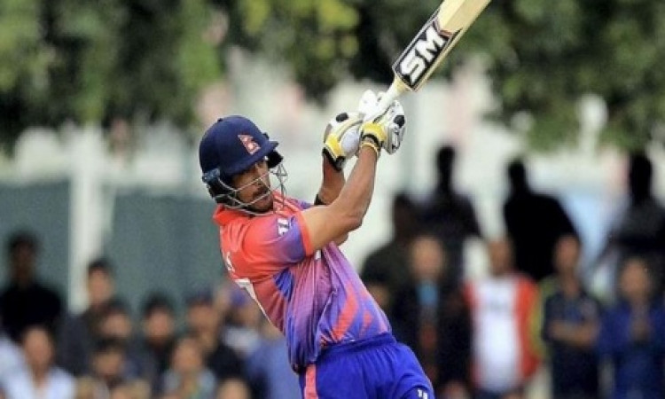 Paras Khadka slams first-ever T20I century for Nepal Images
