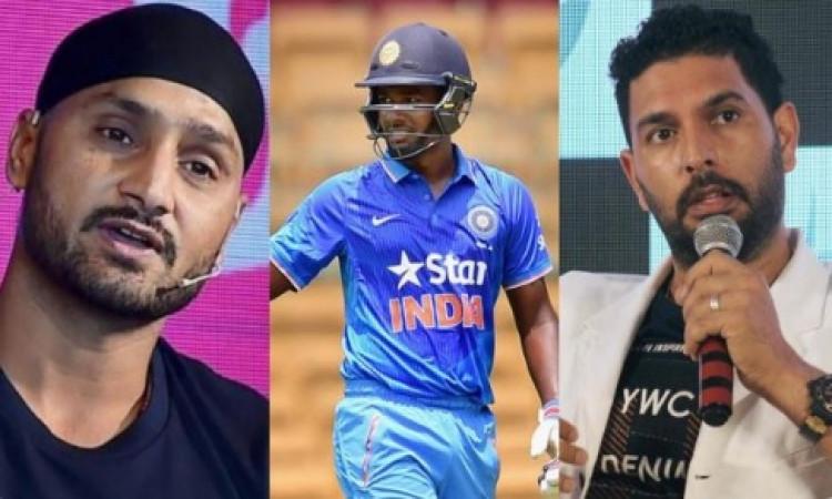 हरभजन सिंह ने इसे बताया नंबर 4 के लिए उपयुक्त बल्लेबाज, फिर युवराज सिंह ने ऐसा कहकर लिए मजे ! Images
