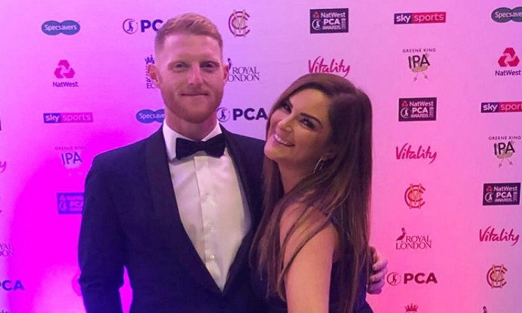 Ben Stokes with his wife