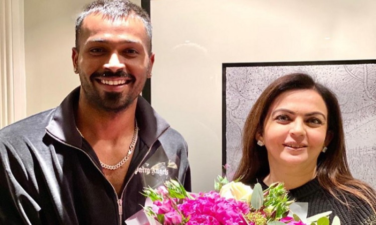 Hardik Pandya with Nita Ambani