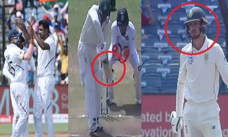 VIDEO अश्विन की रहस्यमी गेंद पर बोल्ड हुए डिकॉक, पिच पर खड़े रहकर खिलाड़ियों से पूछने लगे, बोल्ड हुए