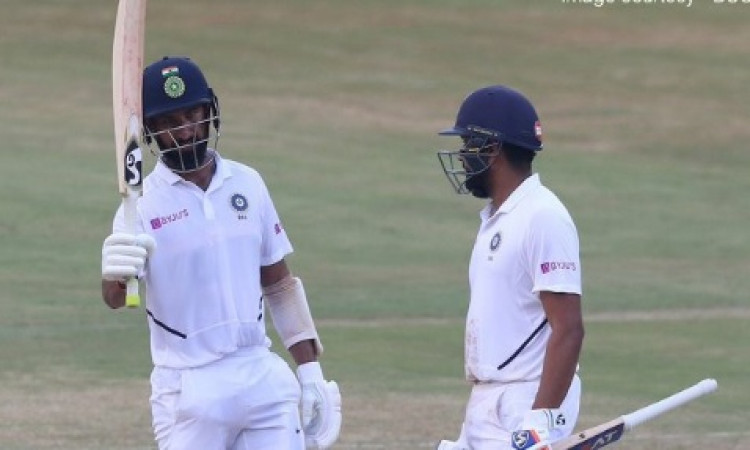 Vizag Test: Rohit, Pujara consolidate India's position (Tea) Images