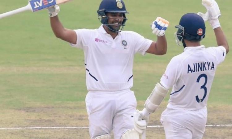 रांची टेस्ट : भारत ने 497 रनों पर पारी घोषित की, रोहित - रहाणे की पारी ने जीता दिल Images
