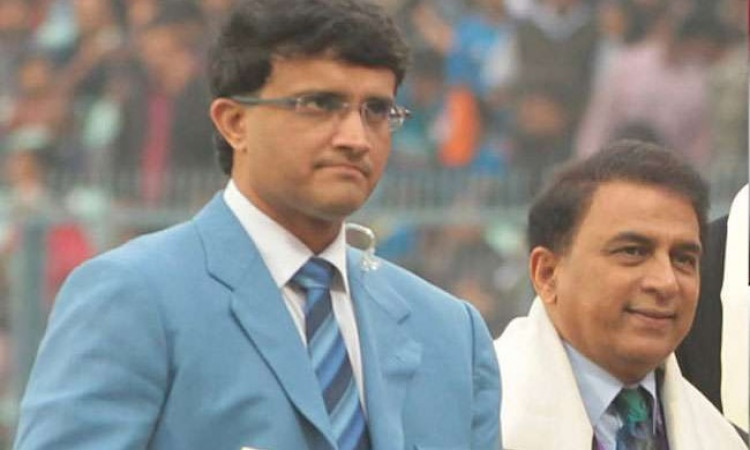 Sourav Ganguly and Sunil Gavaskar