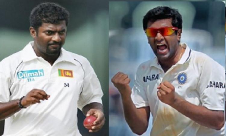 अश्विन ने की मुरलीधरन के रिकार्ड की बराबरी, सबसे तेज 350 विकेट लेकर रचा इतिहास Images