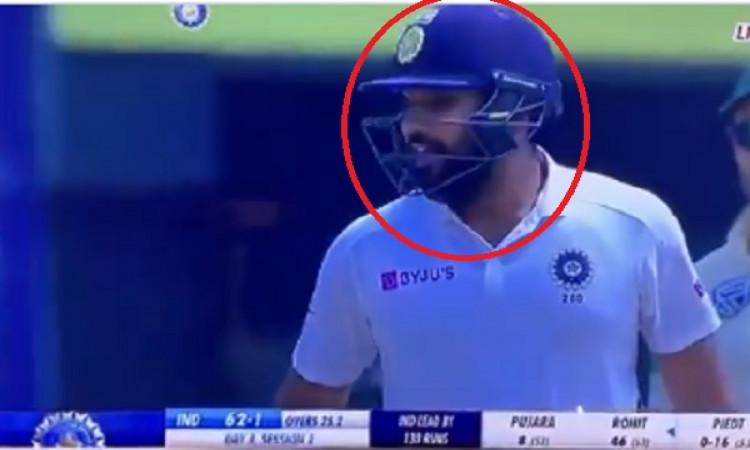 Rohit's swear word towards Pujara caught on stump mic Images