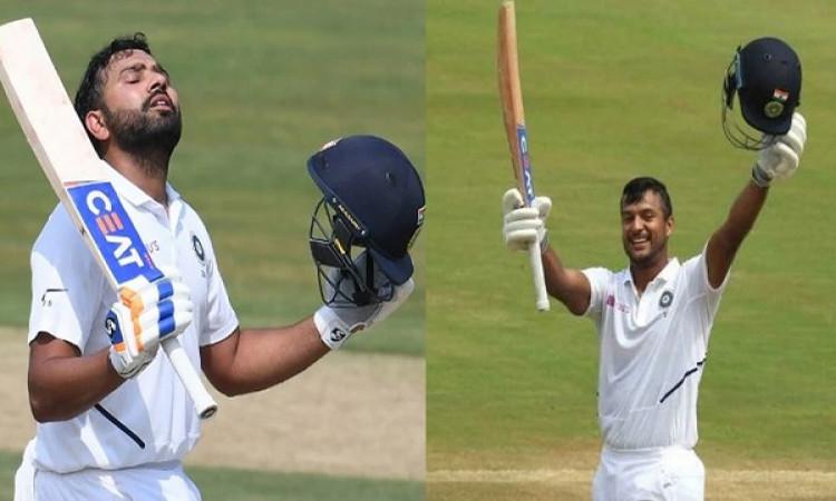 रोहित - मयंक का ऐतिहासिक कारनामा,  बतौर ओपनर टेस्ट में ऐसा करने वाली तीसरी भारतीय ओपनिंग जोड़ी Image