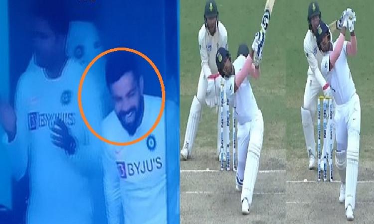 उमेश यादव ने बल्लेबाजी से फैन्स - कोहली को किया खुब एंटरटेनमेंट, पवेलियन लौटने पर कप्तान ने पीठ थपथप