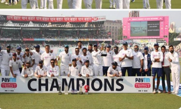 लगातार चौथी बार पारी से जीतने वाली पहली टीम बनी भारत Images