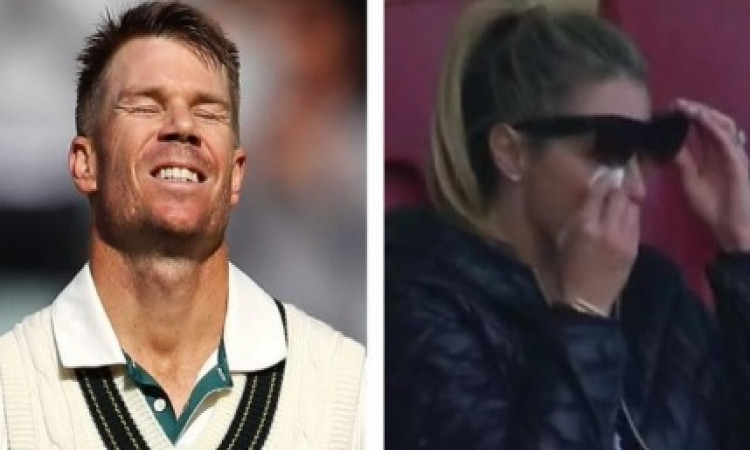 Candice Warner in tears after David hits maiden triple Images