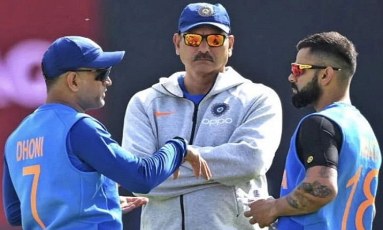 Ravi Shastri and MS Dhoni