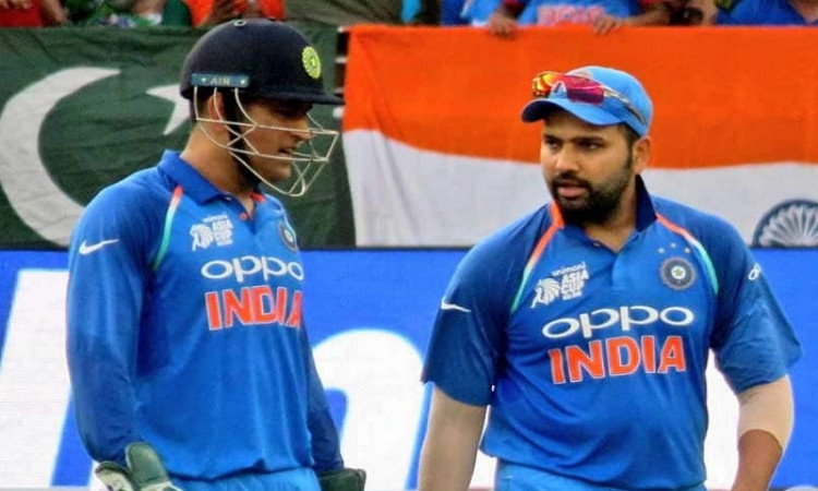Rohit Sharma and MS Dhoni