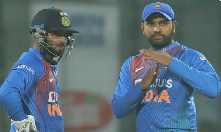 Rohit Sharma and Rishabh Pant