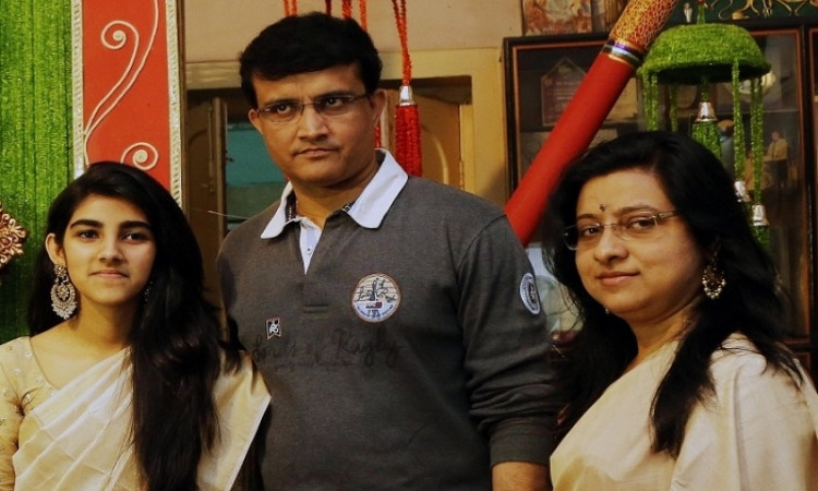 Sourav Ganguly with Daughter Sana